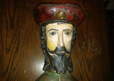 Détail du visage avant nettoyage (Sant Roch)