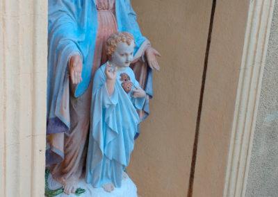 Madone - Vierge à l'enfant. Après restauration